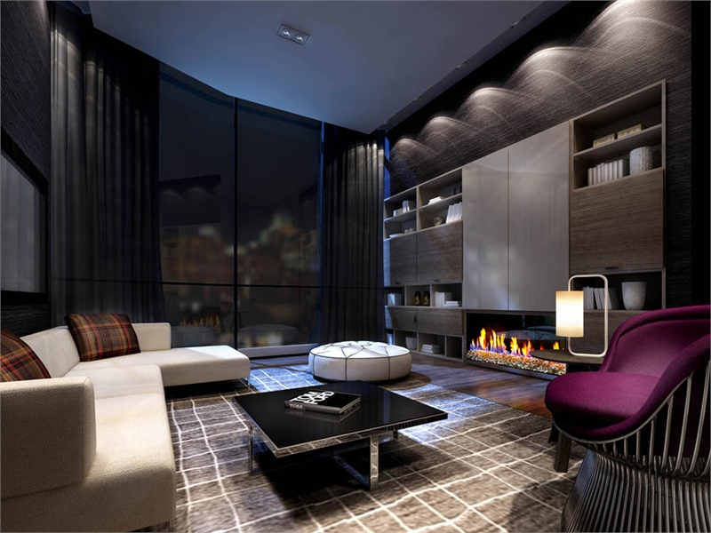 Ten York condo Lounge