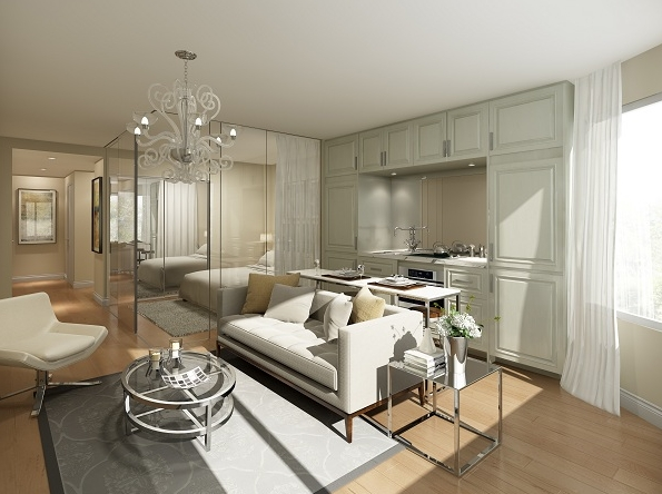 Yorkville Plaza Living room